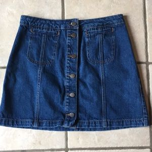 TopShop MOTO button denim skirt
